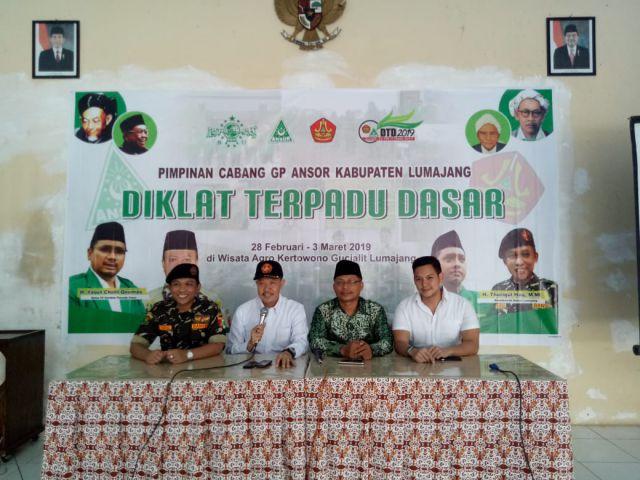 Subhan, Menghadiri Pembukaan Diklat Terpadu Dasar Pimpinan Cabang GP Ansor Lumajang