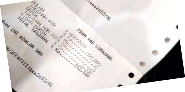 Tagihan Air Mencekik Tak Wajar, Yudi  Pelanggan PDAM Lumajang Dibuat Kaget