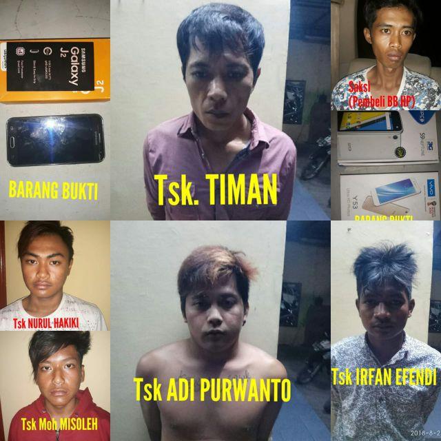 Resmob Polres Lumajang Tangkap Kawanan Perampas Ponsel Pengunjung Pantai Bambang