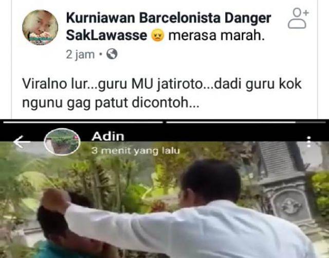 Geger..!  Video Guru di Jatiroto Tampar Murid di Depan Kelas Jadi Viral