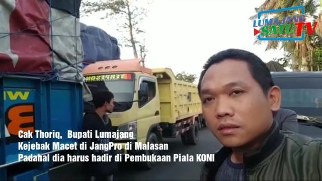 Video Viral Cak Thoriq Terjebak Macet di Jalur Lumajang - Probolinggo
