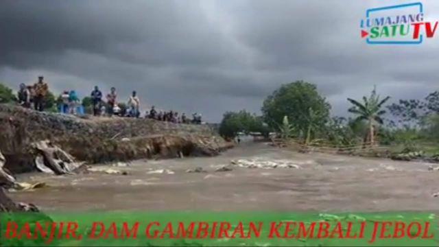 Video Tanggul Kaliasem Jebol dan Lahan Pertanian Lumajang Terendam