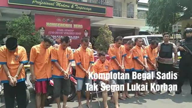 Video Viral Polres Lumajang Tangkap Komplotan Begal Sadis