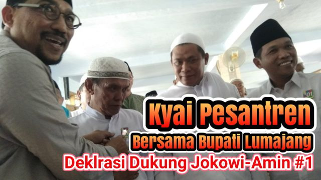Video : Kyai Pesantren Lumajang Deklarasi Dukungan ke Jokowi - Amin