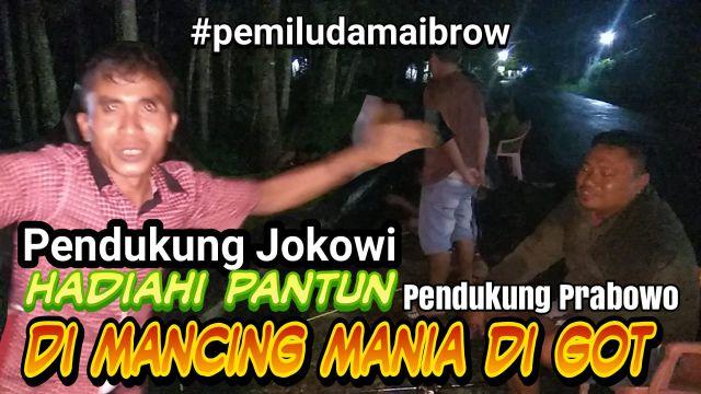 Video : Keseruan Pendukung Capres Jokowi - Prabowo di Mancing Mania