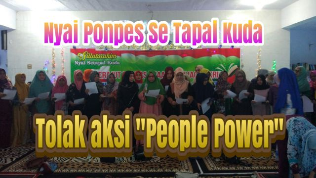 Video : Nyai Se Tapa Kuda Tolak People Power