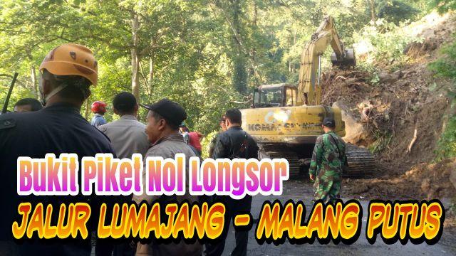 Video : Bukit Piket Nol Longsor Putuskan Jalur Lumajang - Malang