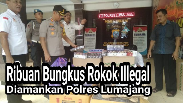 Video : Warga Tempeh Jualan Rokok Illegal Diamankan Polres Lumajang
