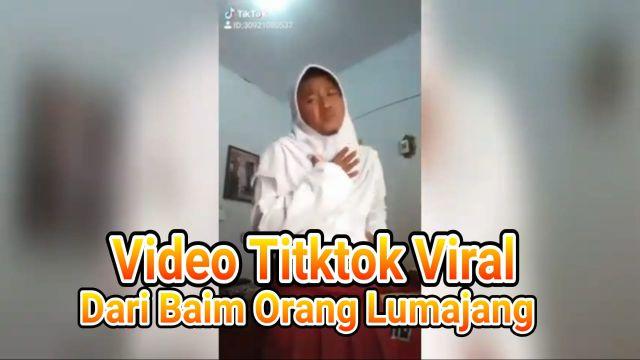 Video : Viral Tiktok Karya Baim Orang Lumajang