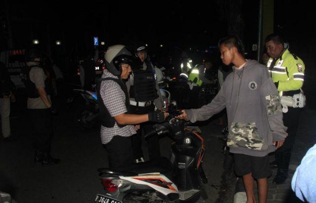 Puluhan Motor Diduga Bodong Terjaring Razia di Taman Toga Lumajang