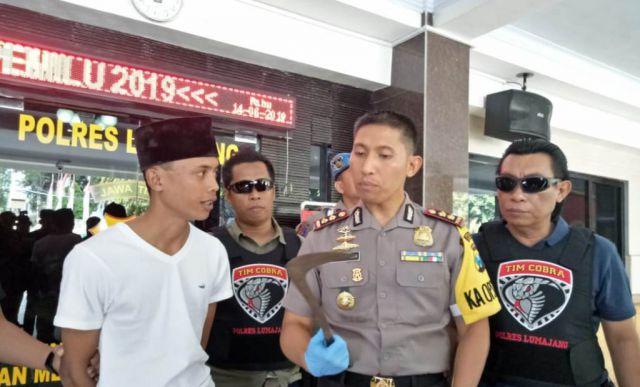 Tim Cobra Tangkap Amir Mahmud Pelaku Pembacokan Dua Warga Sruni