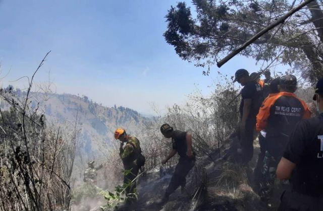 Petugas Berupaya Keras Padamkan Api di Kawasan Wisata B 29