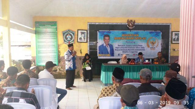 Drs. Ayub Khan Anggota MPR RI Sosialisasi 4 Pilar Kebangsaan di Sumbermujur