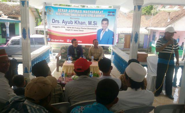 Drs. Ayub Khan DPR RI Fraksi Demokrat Serap Aspirasi Warga Sumberpetung