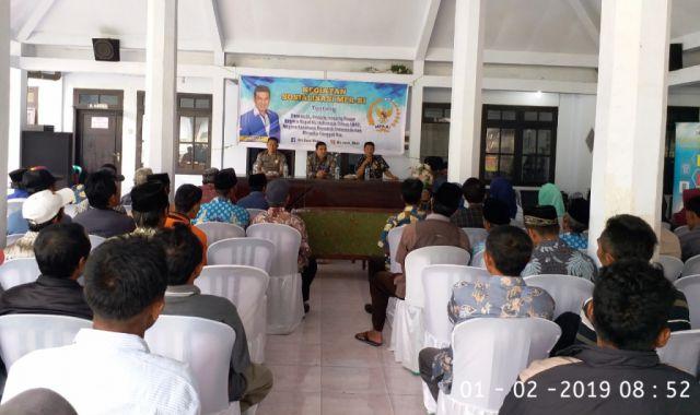 Sosialisasi 4 Pilar,  Warga Sumberwuluh Minta Drs. Ayub Khan Bantu Pengembangan Pariwisata