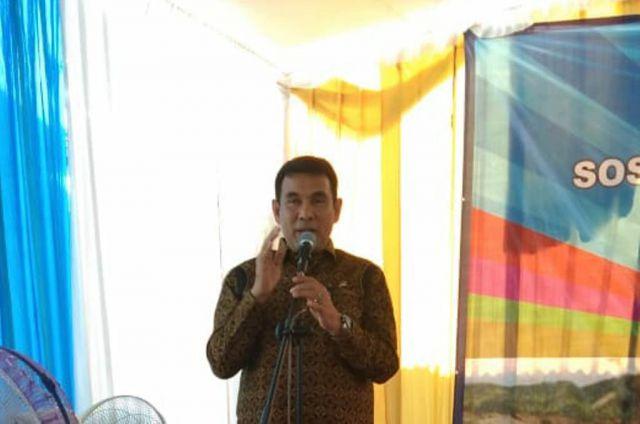 Drs. Ayub Khan Anggota DPR RI Tutup Sosialisasi Kampung KB di Desa Wotgalih
