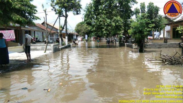 197 KK Terendam Banjir Sungai Banter Rowokangkung Lumajang