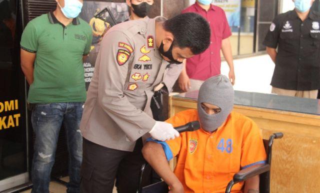 2 Begal Nangis Tahan Sakit Usai Ditembak Reskrim Polres Lumajang