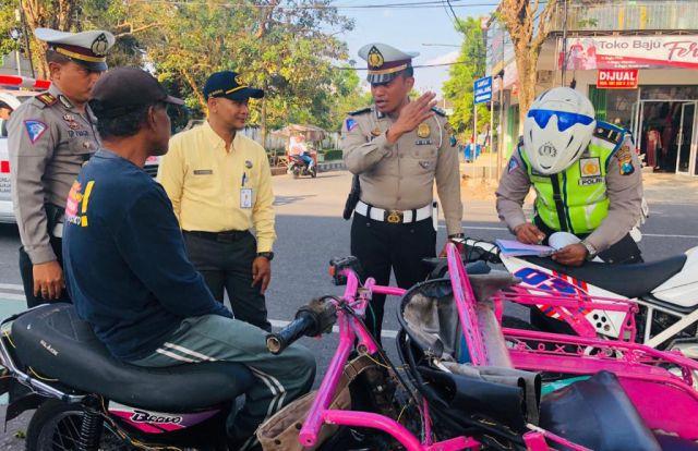 Petugas Gabungan Mulai Tertibkan Bentor Dalam Kota Lumajang