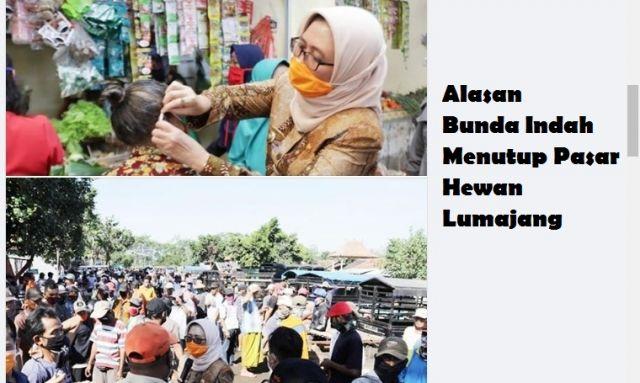 Inilah alasan Bunda Indah Menutup Sementara Pasar Hewan Lumajang
