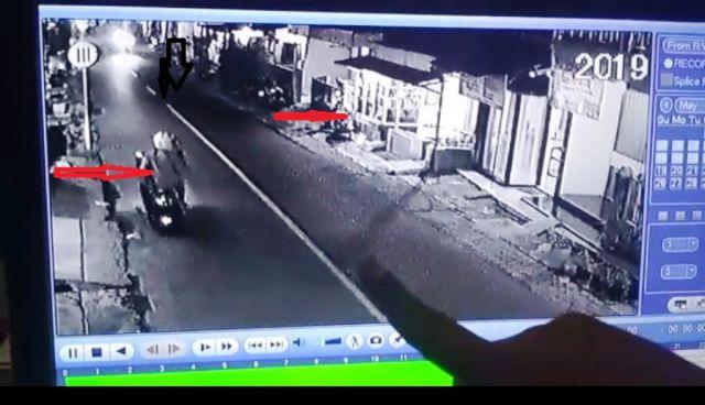 Aksi Maling Sepeda Motor Terekam CCTV di Labruk Kidul