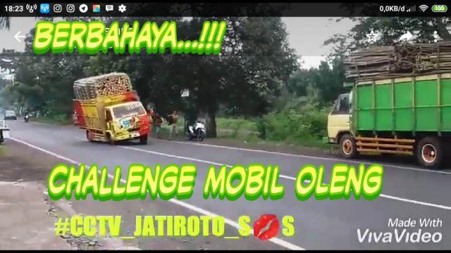 Video : Viral Challenge Mobil Oleng Bergoyang di Lumajang