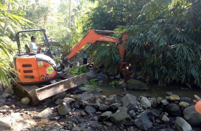 Airi 200 Hektar Sawah, Dam Sungai di Desa Purorejo Dibangun