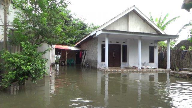 Luapan Sungai Tandak Darungan Lumajang Rendam Puluhan Rumah