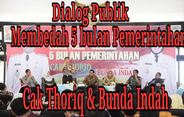 Video : Dialog Publik : Membedah 5 Tahun Pemerintahan Cak Thoriq dan Bunda Indah