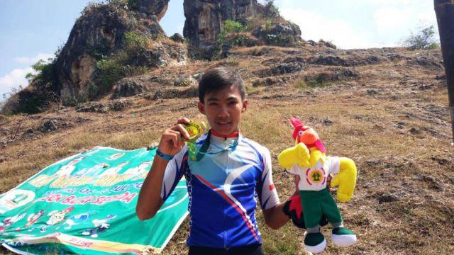 Feri, Sumbangkan 1 Medali Emas Kelas MTB XC Putra Porprov Jatim