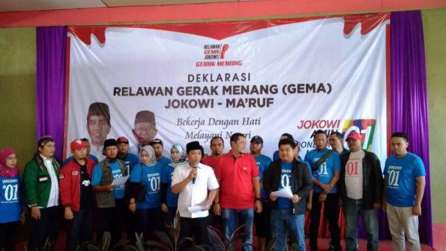 Relawan GEMA Lumajang Deklarasi Siap Menangkan Jokowi-Ma'ruf