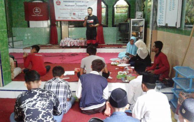 Serahkan Taman Bacaan, GSNI Gelar Pelatihan Jurnalistik di LKSA Izzatul Jannah