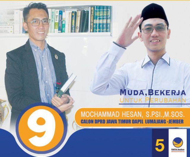 Mengenal Mochammad Hisan 09 Caleg NasDem DPRD Jatim Dapil Lumajang-Jember