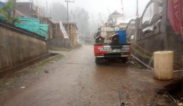 Hujan Guyur Argosari Padamkan Sisa-sisa Kebakarn Diwilayah Jantur