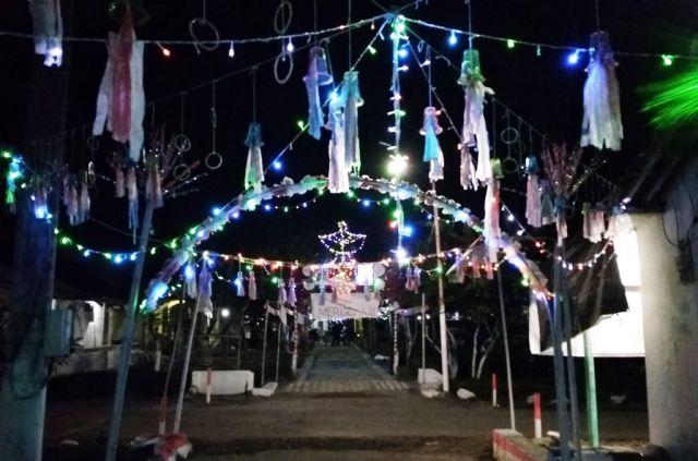 Meriahkan HUT RI ke-73, Inilah Dusun Kelap Kelip Desa Kalidilem