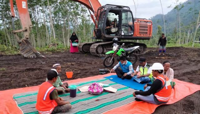 Pembangunan Jembatan Gantung Lahar Semeru Sumberwuluh Lumajang Dimulai