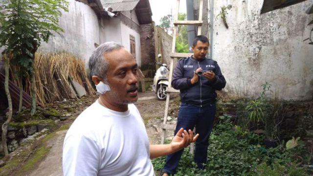Junaedi Mantan Kades Pasrujambe Dianiaya di Depan Anaknya Gara-gara Pasir