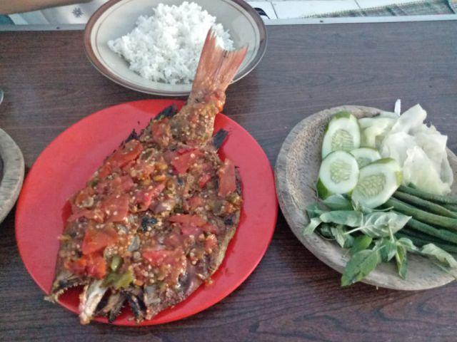 Ikan Kakap Rica-rica di Warung Bebas Mbak Sri Rasanya Bikin Nagih