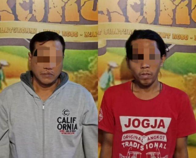 Asyik Ngopi, Dua Pria Warga Desa Kaliboto Lor Lumajang Dibekuk Polisi