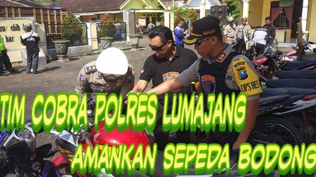 Video : Tim Cobra Geledah Sepeda Bodong di Desa Kalidilem Lumajang