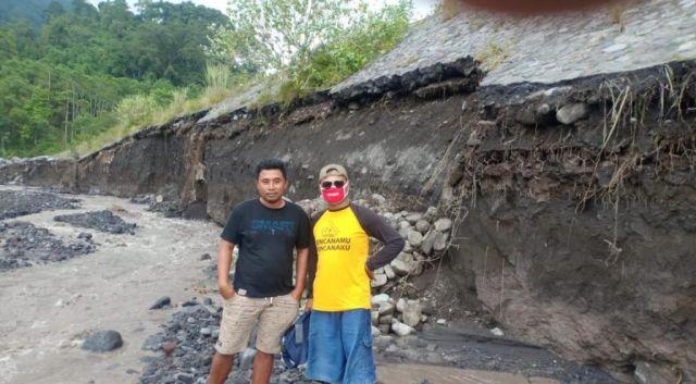 Tanggul Penahan Banjir Semeru di Sumberwuluh Lumajang Ambrol 25 Meter