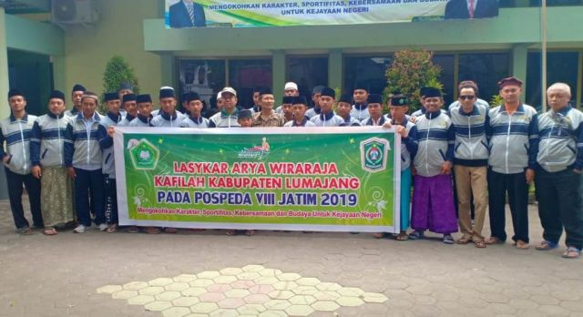 Kontingan Laskar Arya Wiraraja Lumajang Ikuti POSPEDA Jatim VIII di Pasuruan