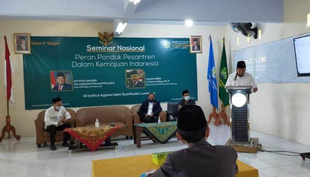 La Nyalla Ketua DPD RI Buka Seminar di IAI Syarifuddin Lumajang