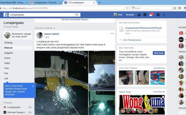 Aksi Lempar Batu Kaca Mobil di Jalan Raya Kedungjajang Ramai di Media Sosial