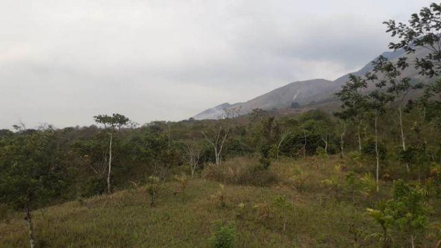 Kepulan Asap Membumbung Tinggi Sisi Utara Lereng Gunung Lemongan