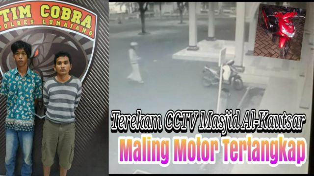 Video : Maling Bersarung di Masjid Al-Kautsar Diringkus Tim Cobra Polres Lumajang