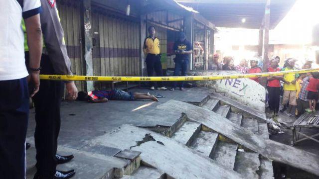 Mayat Tertelungkup Depan Pasar Serangin Lumajang, Ini Keterangn Polisi
