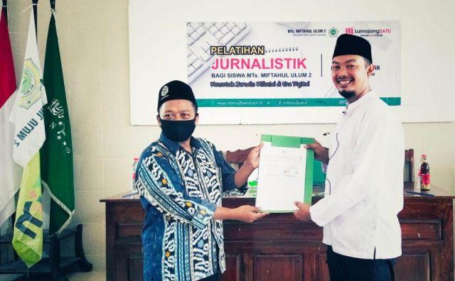 MTs Miful Bakid 2 Teken MoU Pendidikan Jurnalistik dengan Lumajangsatu