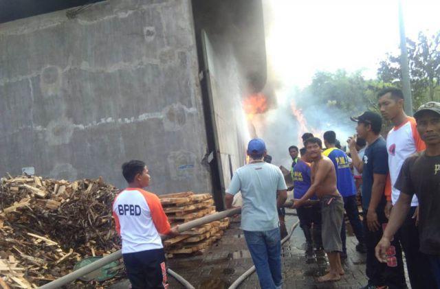 Saat Sholat Jum'at, Pabrik Kayu BSA Tukum Dilalap Api