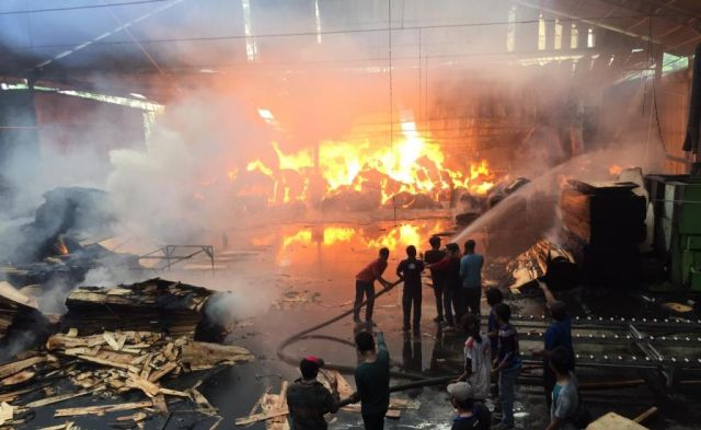 Pabrik Sengon Langgeng Makmur Purwosono Lumajang Ludes Terbakar
